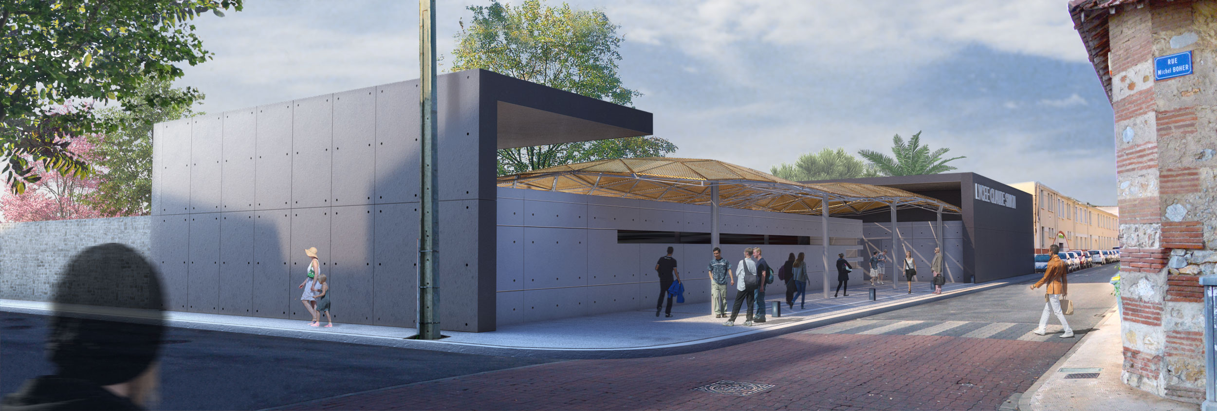 Alagheband Partner's projet Architecture Lycée Rivesaltes 2013