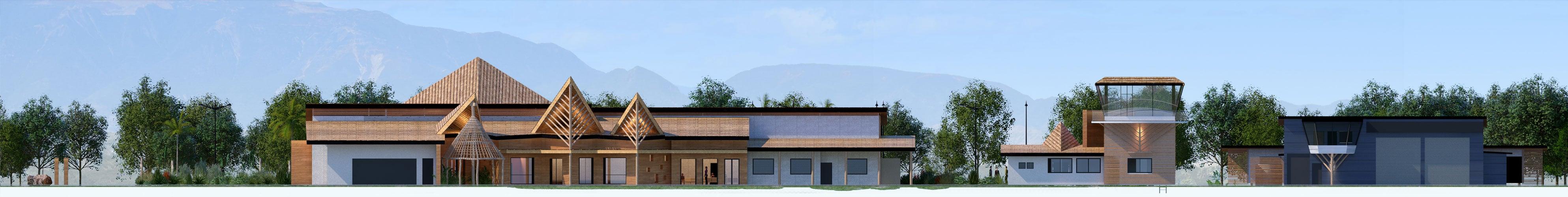 Illustration Concours Architecture Aérodrome de Koné, Façade Sud