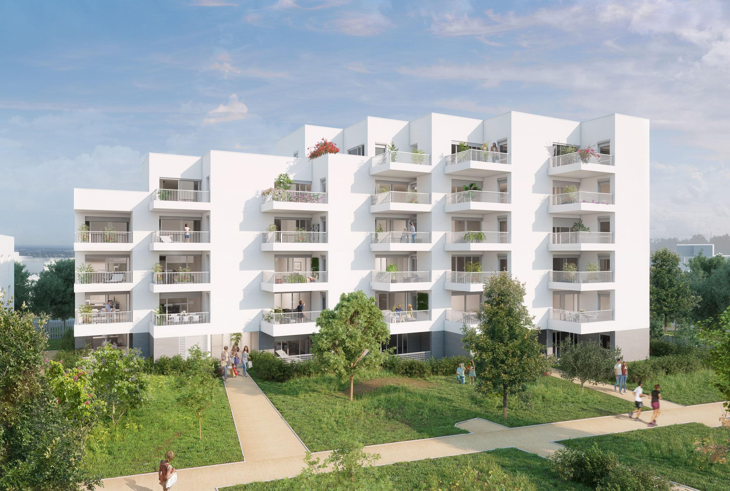 Programme Immobilier Logements Collectifs Canopée, bâtiment en cœur d'îlot.