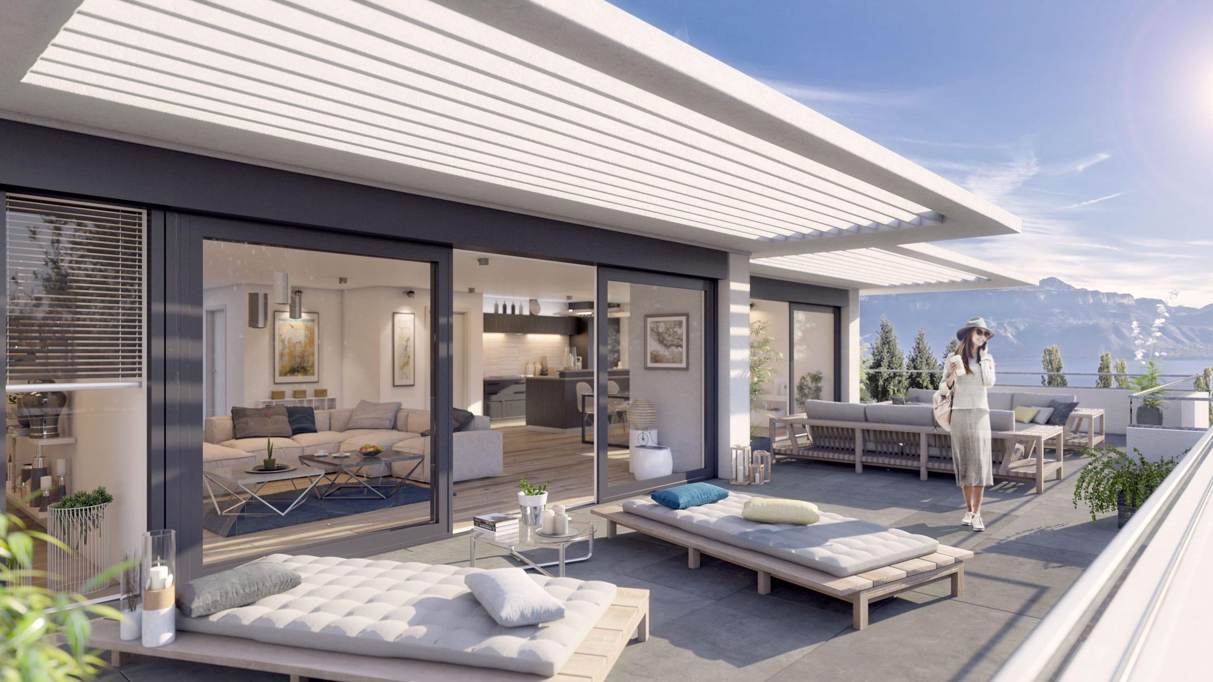 Aménagement immobilier 3D Intérieur et Attique