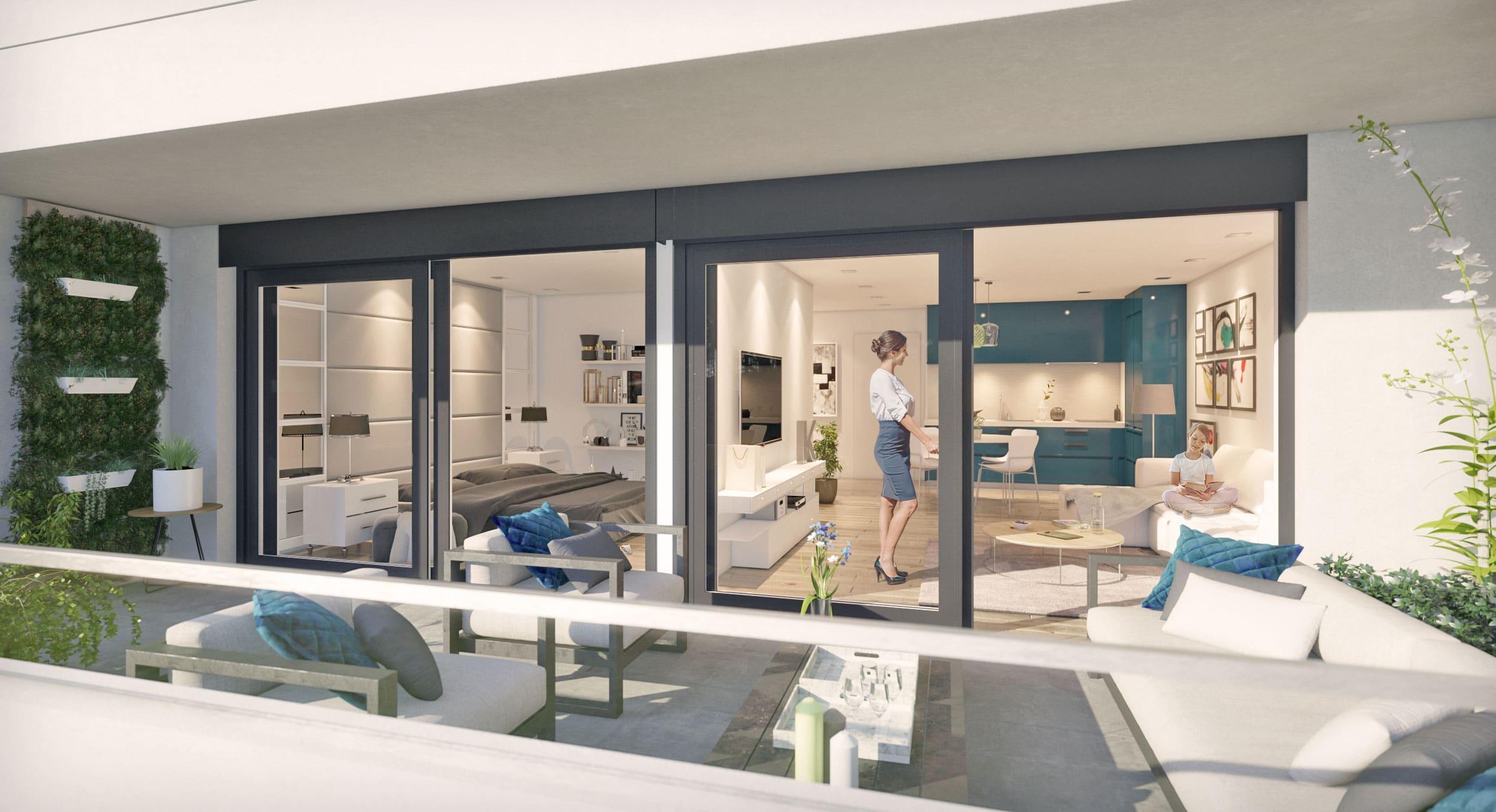 Aménagement 3D Intérieur et terrasse