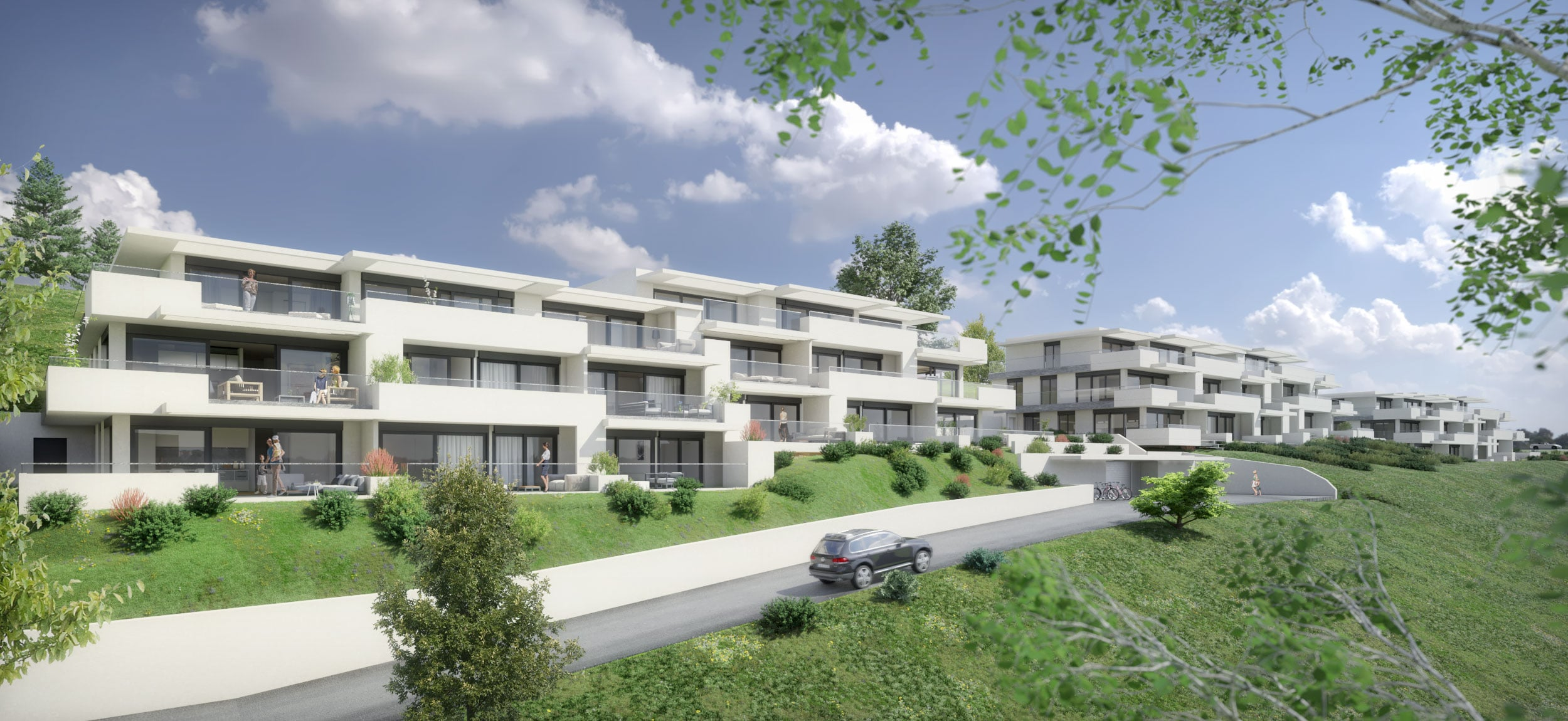 Modélisation 3D hybride intérieur-extérieur immeubles d'habitation haut de gamme