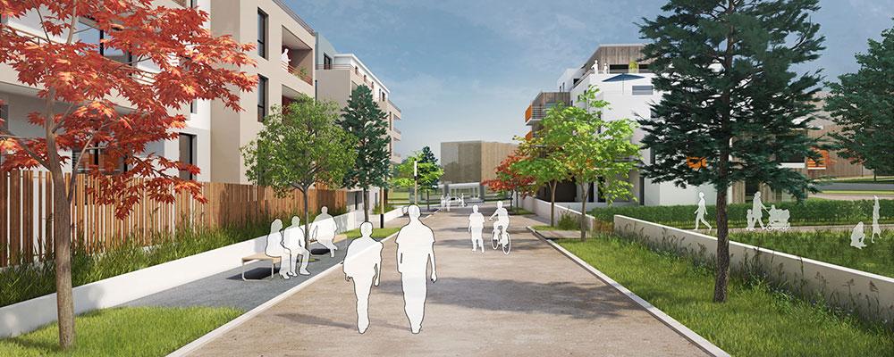 Animation 3D Urbanisme Ecoquartier du Hameau
