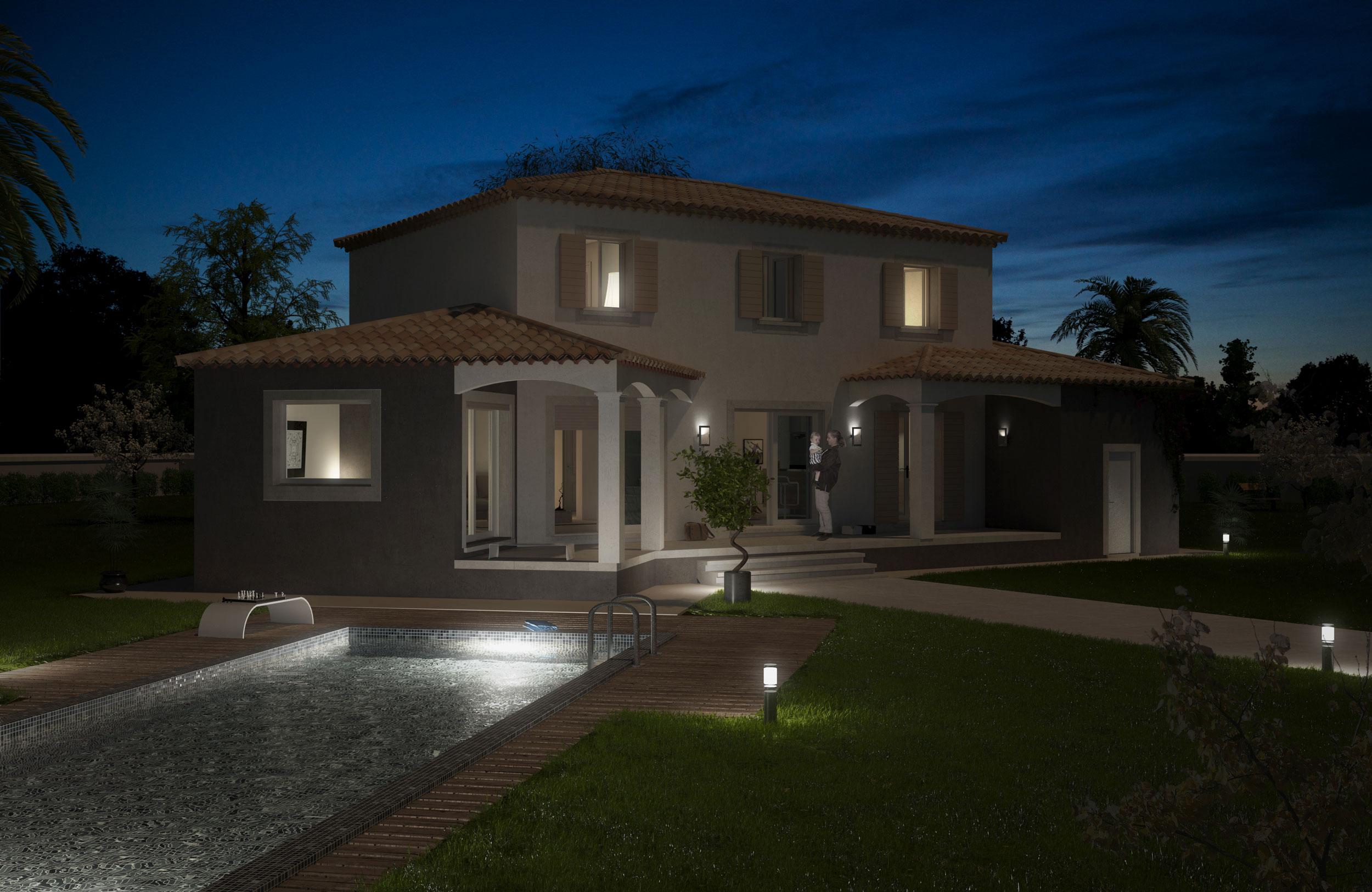 Image 3d promotion immobilière Maison individuelle