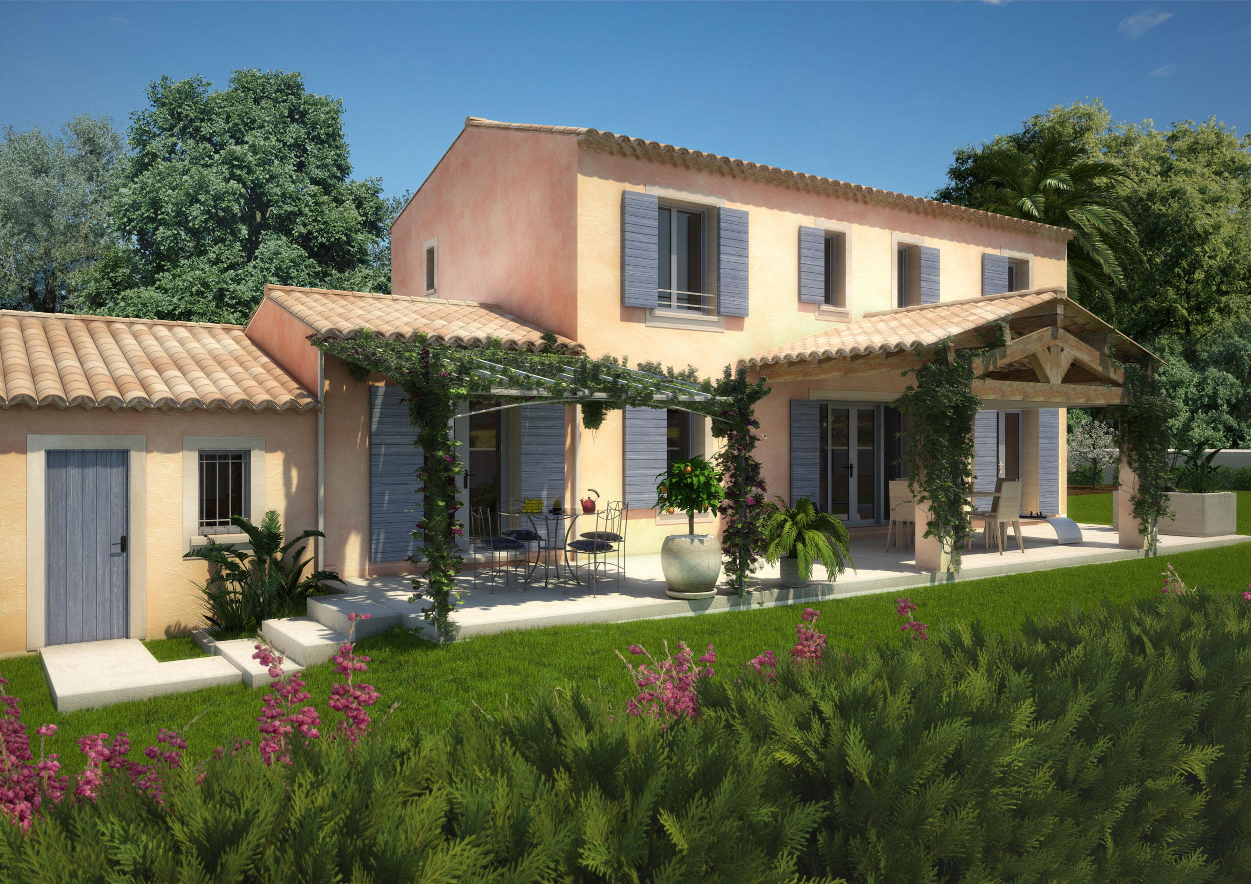 Perspective 3d Maison individuelle promotion immobilière herault 34 Montpellier