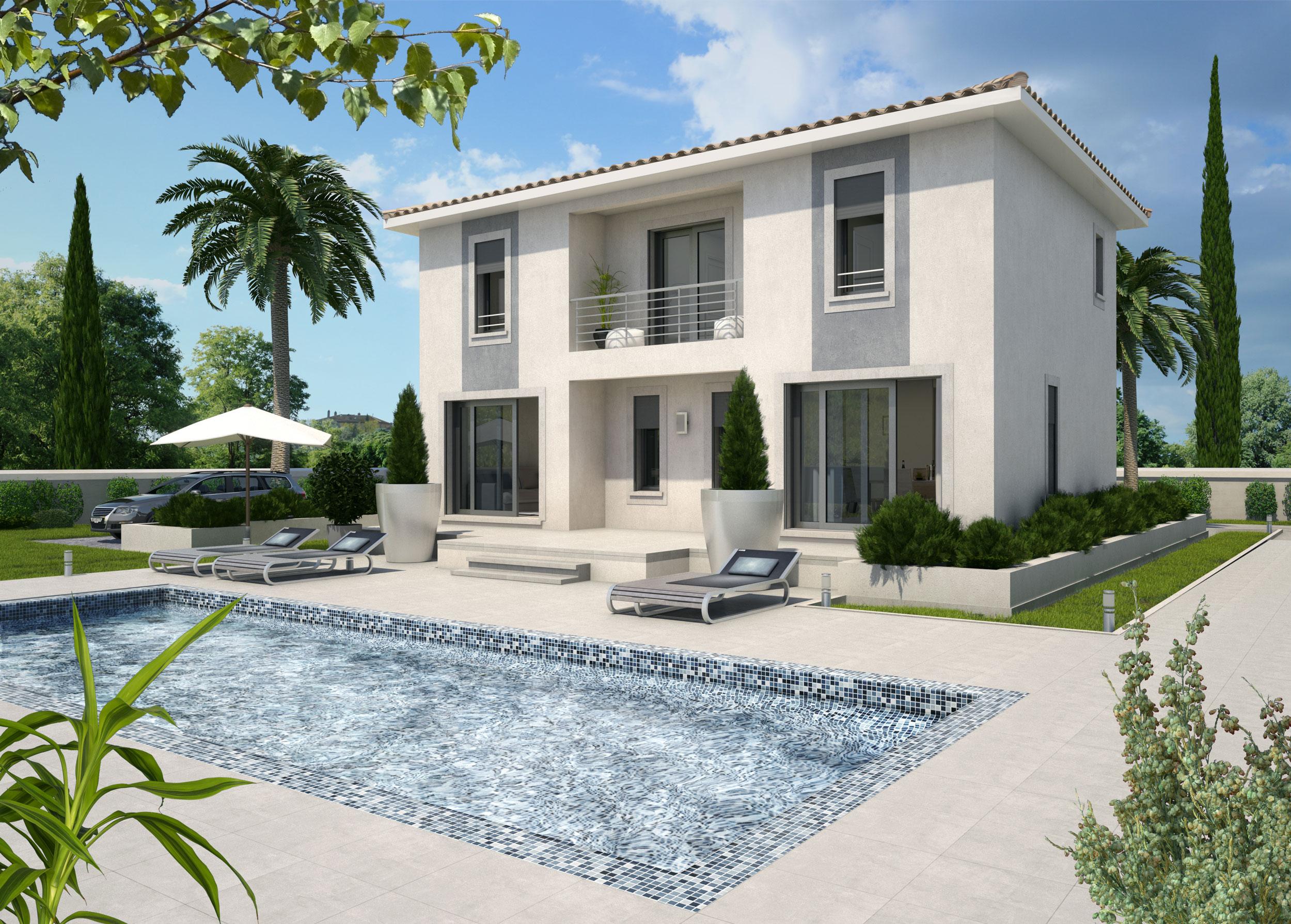 Image 3d Maison individuelle promotion immobilière