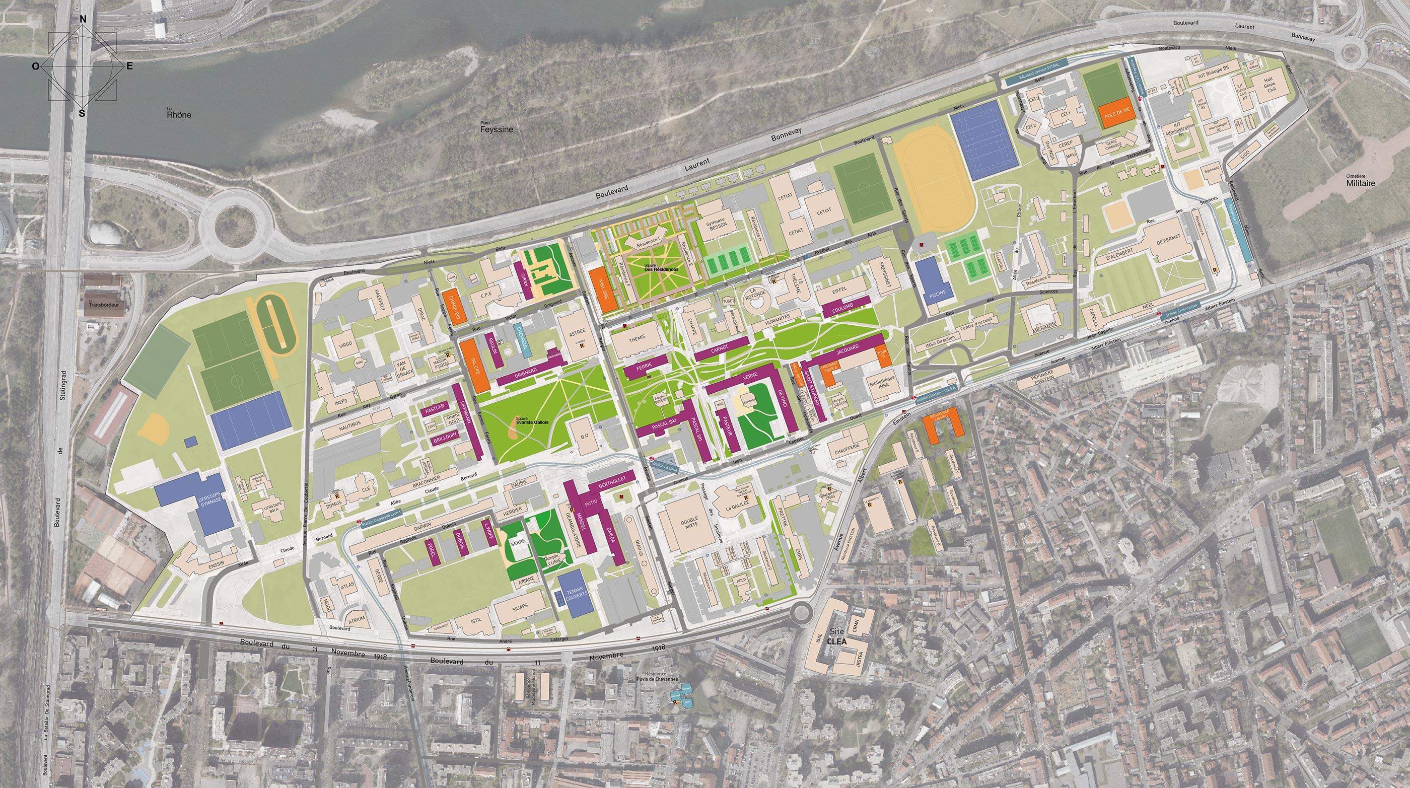 Plan d'urbanisme client Université de Lyon